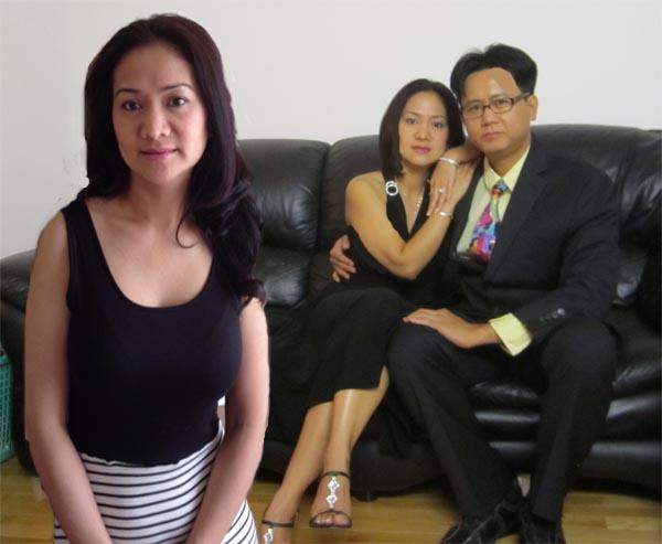 Asian man with two Asian women