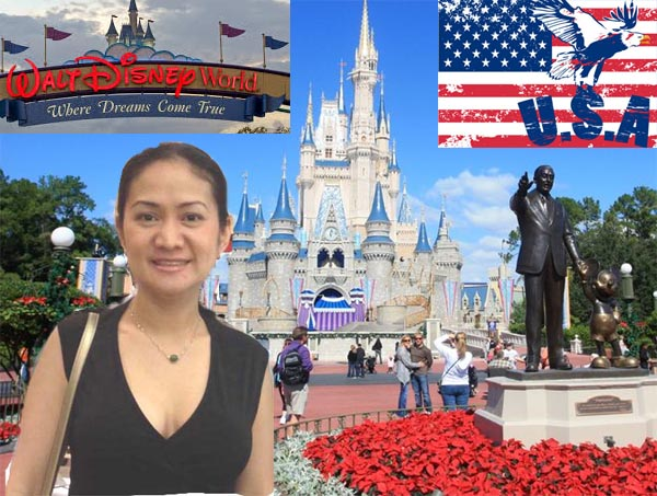 Asian girl at Disney World (USA)