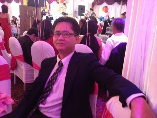 Asian man at the Wedding